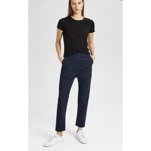 THEORY The Boyfriend Casual Pants in Navy NWT